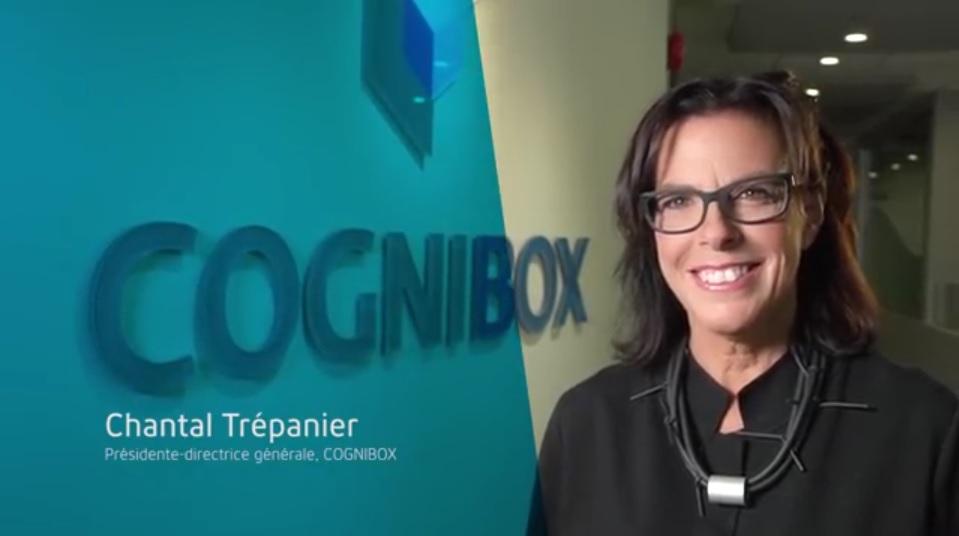 chantal trépanier devant logo cognibox
